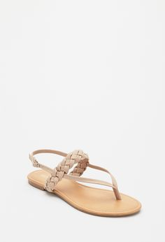 Braided Faux Leather Sandals | Forever 21 - 2000097328