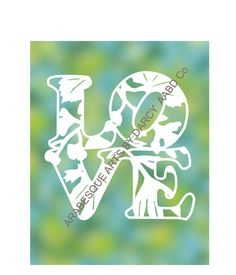 The letters L O V E or love are spelled out in a graceful font as a paper cut art template, filled with my Leaf Spray. This piece recalls Art Template, Templates, Letter L, Love Letters, Diy Paper, Paper Cutting, My Design, Handmade Gifts, Etsy