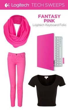 If Elle Woods had a Logitech Folio, it would be in Fantasy Pink! For a punch of color throw on a pair of pink jeans, pink scarf, and a black shirt to soften the look.