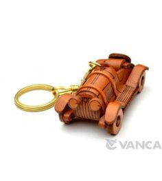 Classic Sports Car Leather Keychain(L)