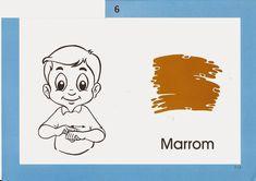 Trabalhando com Surdos: Cores em Libras Sign Language Book, Smurfs, Projects To Try, Comics, Books, Fictional Characters, Sim, Grande, Funny Ideas
