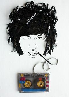 Incríveis artes com fitas cassete | Criatives | Blog Design, Inspirações, Tutoriais, Web Design
