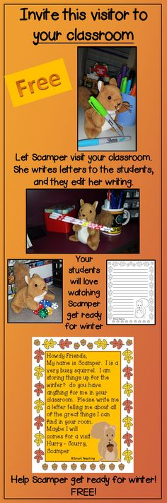 Scamper will help your students learn editing and letter writing skills.  Children love to read and edit the letters that she writes to them each day for a month.  A great way to make daily oral language fun for your students.