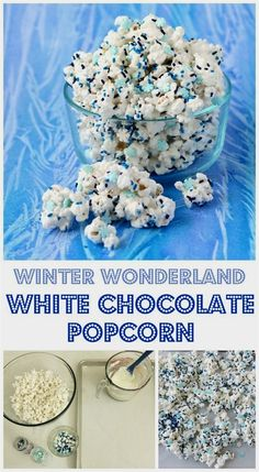Winter Wonderland White Chocolate Popcorn speckled with candy snowflakes an. This Winter Wonderland White Chocolate Popcorn speckled with candy snowflakes an., This Winter Wonderland White Chocolate Popcorn speckled with candy snowflakes an. Winter Snacks, Winter Treats, Christmas Snacks, Christmas Baking, Holiday Treats, Christmas Sprinkles, Winter Party Foods, Christmas Fern, Christmas Popcorn