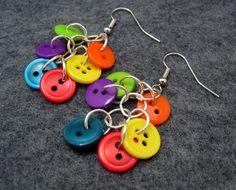 button dangle earrings diy supplies: buttons: http://www.ecrafty.com/c-757-buttons.aspx jump rings: http://www.ecrafty.com/c-201-jump-rings-split-rings.aspx ear wires: http://www.ecrafty.com/c-153-earring-wires.aspx