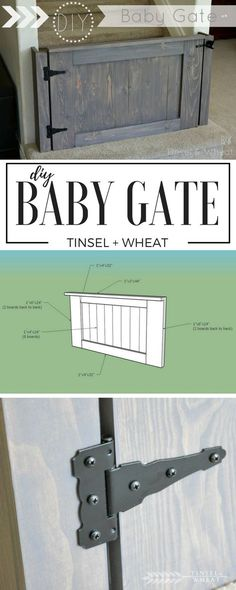 Pallets Woodworking Step by step DIY baby gate tutorial with pictures. Come see just how easy it is to build your own!(Diy Furniture Baby) - Step by step DIY baby gate tutorial with pictures. Come see just how easy it is to build your own! Baby Gate For Stairs, Barn Door Baby Gate, Diy Baby Gate, Pet Stairs, Baby Gates, Pet Gate, Porch Stairs, Dog Gates, Wooden Stairs