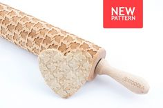 Hummingbird Engraved Rolling Pin - Embossed For Making Cookies by STODOLA on Gourmly