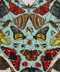 Butterflies Beasticles Silk Cushion, Silken Favours