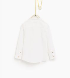 ZARA - KIDS - Textured weave shirt with pocket