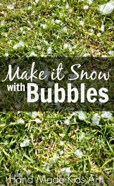 Make it Snow with Bubbles! Change up your bubble routine by trying a new type of bubble wand.