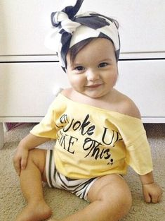I Woke Up Like This Tee / baby girl outfit. I don't have a girl but this is too adorable