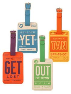 Dormify retro-chic luggage tags, $18