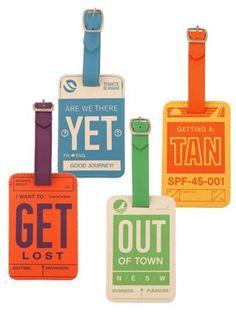 Retro-chic luggage tags