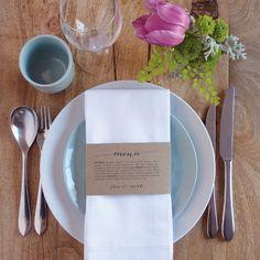 Wedding Menu Napkin Wedding Menu Wrap by WhiteWillowPaper on Etsy, $20.00
