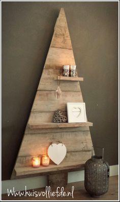 Steigerhouten kerstboom,kerst,christmas,steigerhout, Www.huisvolliefde.nl