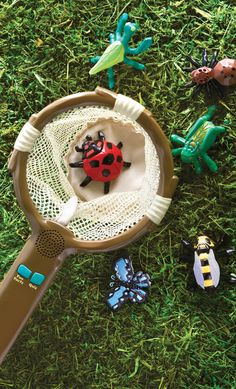 When kids drop one of six toy bugs into this interactive net, it teaches them fun facts, ask questions, and gives prompts for games