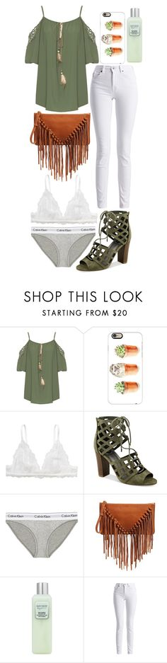 """green hippy style"" by enjoyrosa ❤ liked on Polyvore featuring WearAll, Casetify, Monki, G by Guess, Calvin Klein Underwear, Sole Society, Laura Mercier and Barbour International"