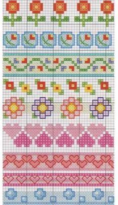 Cross stitch pattern, borders.