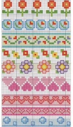 Cross stitch pattern, borders.