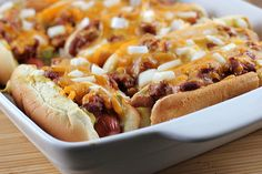 Baked Hot Dogs - perfect Super Bowl fare