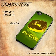 John Deere Logo Gold Green Snap on 2D Black and White Or 3D Suitable With Image For Iphone 4/4S Case