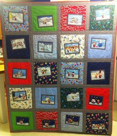 charlie brown christmas quilt by rainbow robot, via Flickr