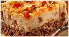Cowboy Meatloaf and Potato Casserole