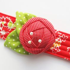 Red pincushion cuff