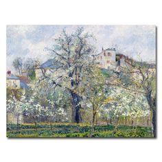 Camille Pissarro 'The Garden at Pontoise 1877' Canvas Art | Overstock.com