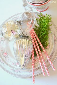 Opalescent Christmas ornaments