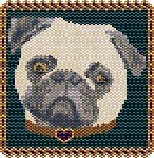 Pug Pattern by Rita Sova at Bead-Patterns