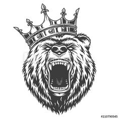 Buy Vintage Logo Style Bear by imogi on GraphicRiver. Vintage logo style bear with crow. Halloween Tattoo, Halloween Drawings, Leg Tattoos, Sleeve Tattoos, Ship Tattoos, Arrow Tattoos, Mode Logos, Grizzly Bear Tattoos, Natur Tattoos