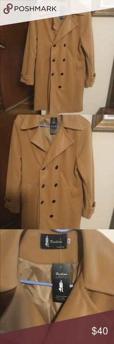 Trend Design Mens Coat NWT Men's winter Trench Coat has never been worn. Classy and stylish. Although it says XXXl it fits like a large Men's. In a Camel color. Trend Design Jackets & Coats Trench Coats