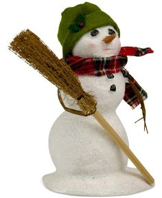 Byers' Choice Snowman with Broom