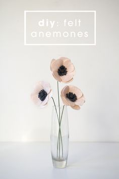 How to make a felt anemone flower - and other posts with other flowers as well…  and wedding bouquet