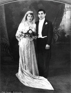 Kim's paternal grandmother Helen Arakelian (left) married Arthur Kardashian (right) in California. He was the son of Tatos Kardashian, also from an Armenian Molokan family
