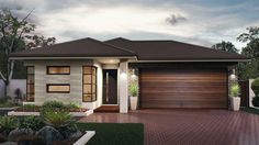 The Callington - the Metro Collection. Simple in its design, the Callington still ticks a lot of boxes. Complete with a large master bedroom, 3 additional bedrooms and large bathrooms. Modern Exterior House Designs, Exterior House Colors, New Home Designs, Modern House Plans, Modern House Design, Exterior Design, Bungalow House Design, House Front Design, Modern Bungalow