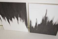 DIY art - simple dry-brush painting technique on a white canvas. I think I can manage this!