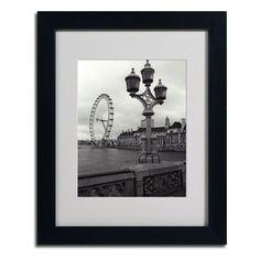 "Found it at Wayfair - ""London Eye"" by Kathy Yates Framed Photographic Print"