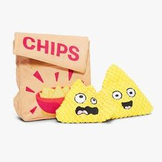 A-maize-ing Corn Chips Cute Dog Toys, Best Dog Toys, Food Pillows, Cute Pillows, Food Plushies, Toy Bulldog, Puppy Supplies, Cute Stuffed Animals, Dog Items