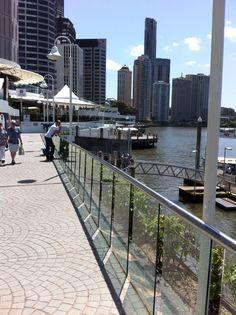 Along the Brisbane River: The Pier, Brisbane city. #brisbane #australia