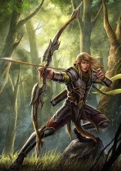 Fantasy Shrine | Elven Archer by HappySadCorner