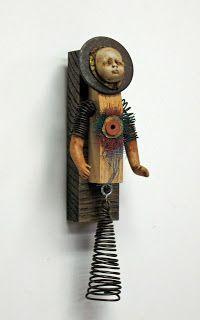 assemblage art | Carla Trujillo - Mixed Media Artist: Jessie - Assemblage Art Doll
