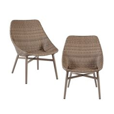 2pk Kolin Outdoor Resin Wicker Dining Chair Gray : Target