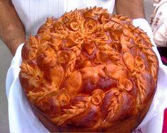 This is Korovay, Ukrainian wedding bread