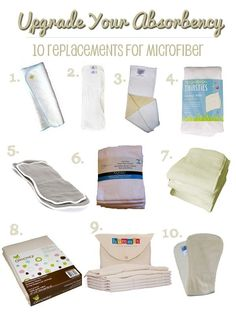 Cloth diaper inserts - get the lowdown on 10 natural fiber insert options to replace microfiber!