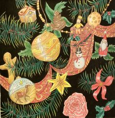 The Magical Christmas by Lizzie Cullen. Inside the Christmas Tree Coloured by Prue. Colorful Christmas Tree, Magical Christmas, Christmas Colors, Christmas Ideas, Christmas Ornaments, Colouring, Adult Coloring, Coloring Books, Mary