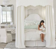 Monique Lhuillier Full Canopy Bed | Pottery Barn Kids