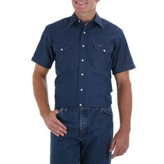 Wrangler Men's Cowboy Cut Short Sleeve Shirt