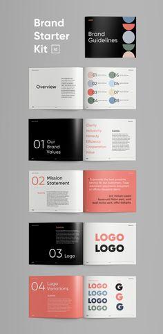 Brand Starter Kit for InDesign Letterhead Template, Indesign Templates, Card Templates, Brochure Design, Branding Design, Identity Branding, Corporate Design, Corporate Identity, Visual Identity